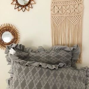 NWT Grey oversized boho pillows (set of 2)
